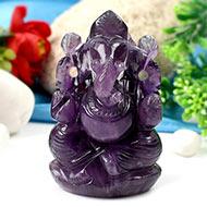 Ganesha in Amethyst-252 gms