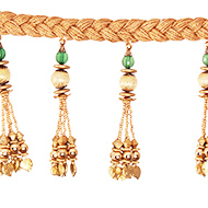 Golden Toran with hangings
