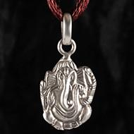 Ganesh Locket in Pure Silver - Design XL