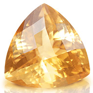 Yellow Citrine - 9.70 carats - Trillion