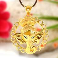 Pagadi Ganesh pendant in gold