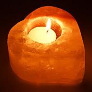 Himalayan Rock Salt Candle Lamp - Heart Shape
