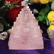 Rose Quartz Shree Yantra - 244 gms