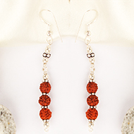 Earrings of Rudraksha Beads - Design III