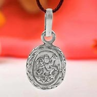 Hanuman locket - in pure silver - Design V