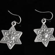Surya Earrings in Silver - Design XII