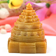 Yellow Jade Shree Yantra - 274 gms
