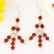 Earrings of Rudraksha Beads - Design II