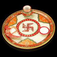 Marble Puja Thali Set - II