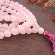 Pink Jade Round mala - 8mm