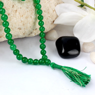 Green Jade round mala - 6mm