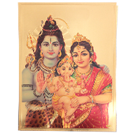 Shiva Parivar Photo in Golden Sheet - Large