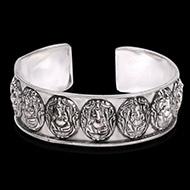 Ganesh Kada in pure silver - Design V
