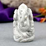 Howlite Ganesha - 19 gms