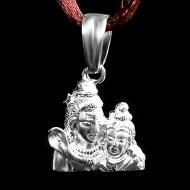 Shiva Parvati Locket in Pure Silver - 1.50 gms