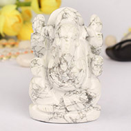 Howlite Ganesha - 144gm