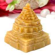 Yellow Jade Shree Yantra - 223 gms