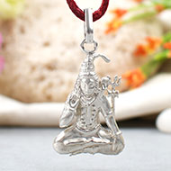 Shiva Locket in pure silver - Design VI