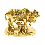 Gaumata with Calf in Brass - V