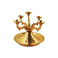 Panch Diya lamp in brass
