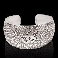 Om Kada in pure heavy silver - Design II