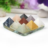 Set of Nine Gemstone Pyramids Plate - Small - I