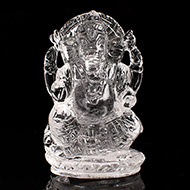 Ganesh Idol in pure quartz - 30 gms - II