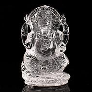 Ganesh Idol in pure quartz - 30 gms - II