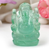 Fluorite Ganesha - 80 gms - Right Trunk