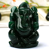 Green Jade Ganesha - 100 gms