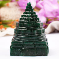 Green Jade shree Yantra - 365 gms