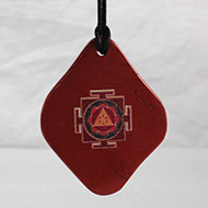 Ganesh Yantra Pendant on Red Aventurine
