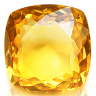 Yellow Citrine - 6.30 carats - Square Cushion