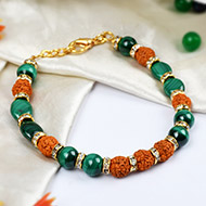 Rudraksha  Malachite  Bracelets