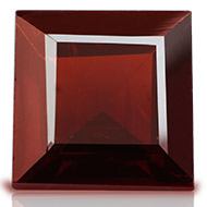 Red Garnet - 3 to 4 carats - Square