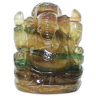 Fluorite Ganesha - 86 gms
