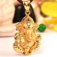 Ganesh Pendant in Gold - 5.98 gms