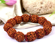 5 mukhi Guru bracelet in Woolen spacers - 15 ..