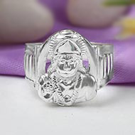 Hanuman Ring in Pure Silver - Design V