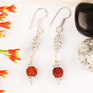 Earrings of Rudraksha Beads - Design XVV
