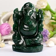 Green Jade Ganesha - 151 gms