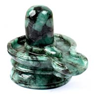 Shivlinga in Emerald-357.10 carats