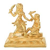 Goddess Baglamukhi idol in Bronze