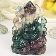 Fluorite Ganesha - 279 gms