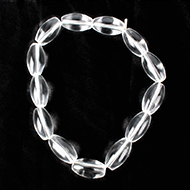 Sphatik Drum Shape Beads Bracelet