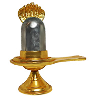 Parad lingam in brass   yoni - Large