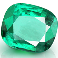Emerald 1.50 carats Zambian - Cushion