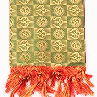Om with Trident shawl in Art Silk