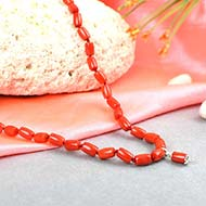 Coral Drum Shape Mala