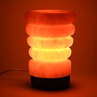 Himalayan Rock Salt Lamp - Glass Shaped Lamp